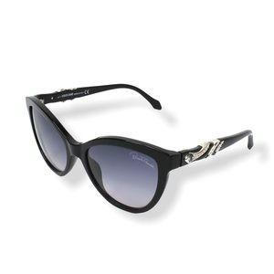 Roberto Cavalli Cat Eye Rhinestone Sunglasses